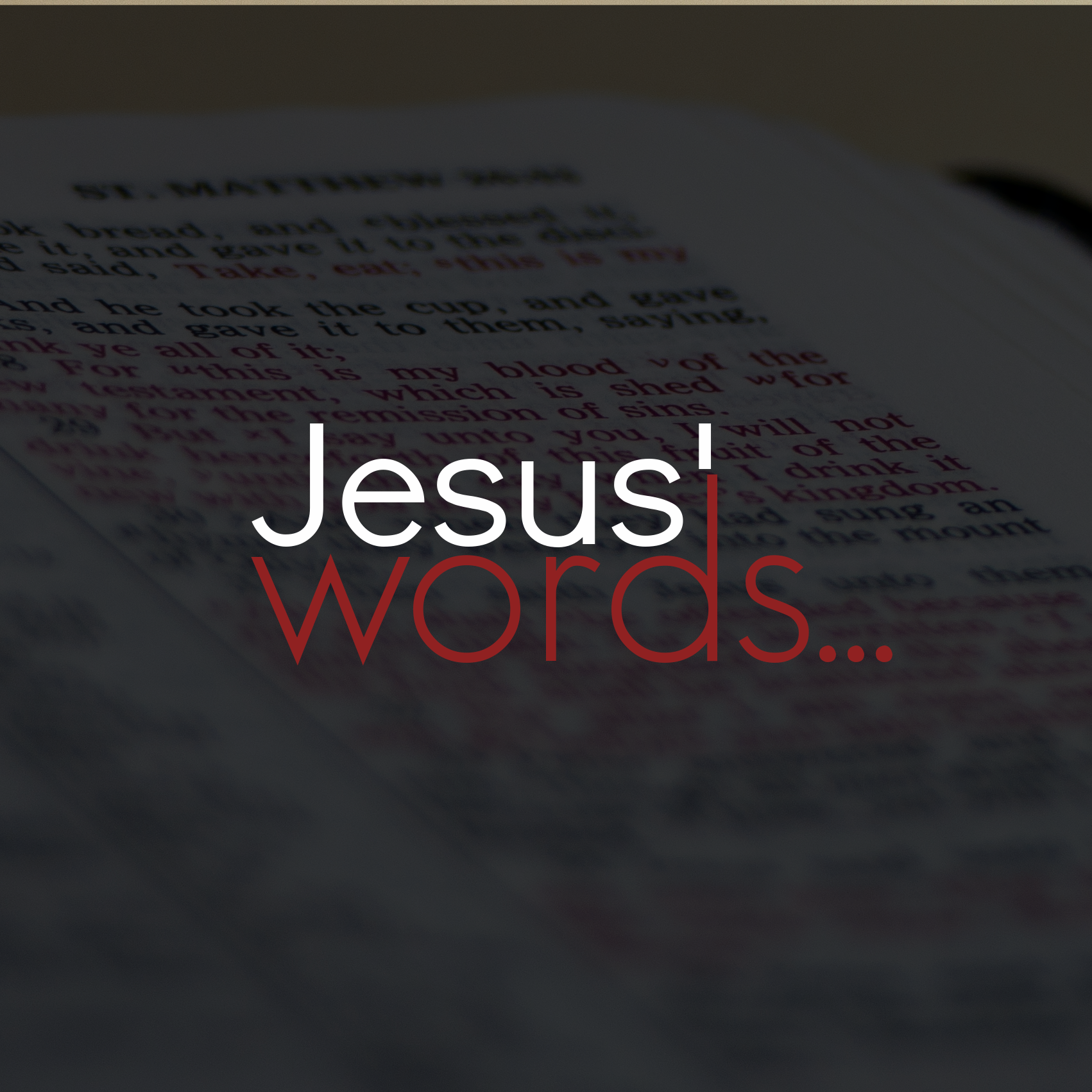 Jesus' Words- Sin